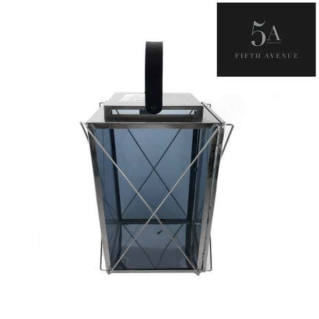 5A Fifth Avenue Large Smoked Glass Lantern