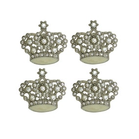 Bling Pack of 4 Crown Door Knobs