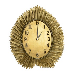 Colonial Charm Gold Leaf Mantle Clock