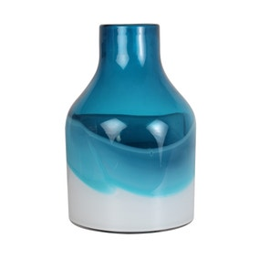 Elements Blue Glass Bottle Vase