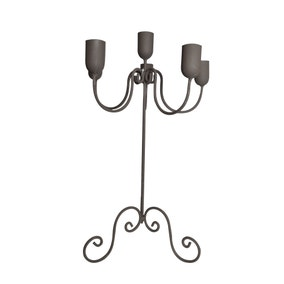 Maison Francaise Grey Wire Candelabra
