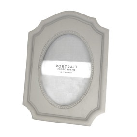 Maison Francaise Grey Portrait Photo Frame