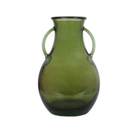 Keepers Lodge Green Recycled Glass Vase