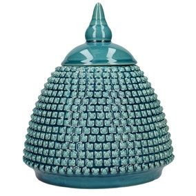 Deco Charm Teal Ginger Jar