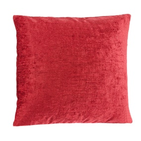 Chenille Red Cushion