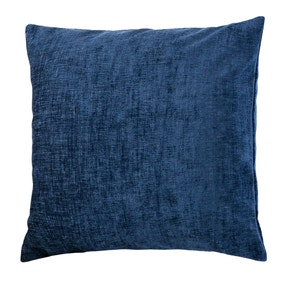 Chenille Navy Cushion