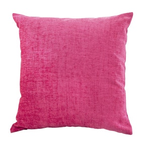 Chenille Fuchsia Cushion