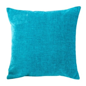 Chenille Turquoise Cushion