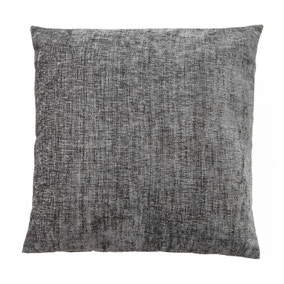 Chenille Charcoal Cushion
