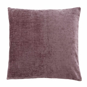 Chenille Mauve Cushion