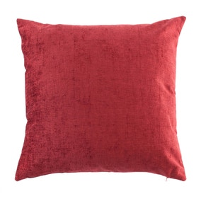 Large Chenille Red Cushion