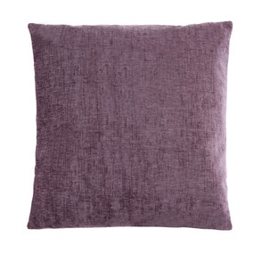 Large Chenille Mauve Cushion