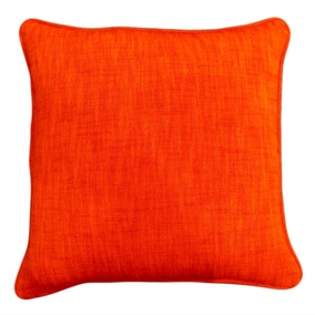 Large Orange Cotton Slub Cushion