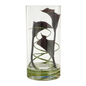 5A Fifth Avenue Calla Zebra Grass in Cylinder Vase