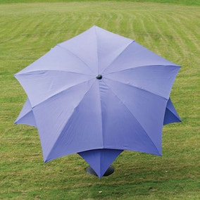 Lotus Fibreglass Parasol 2.7m Purple
