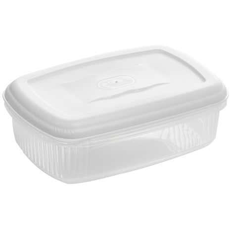 Essentials 1.2 Litre White Rectangle Container