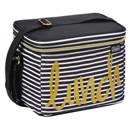 Polar Gear Striped Lunch Cooler Bag