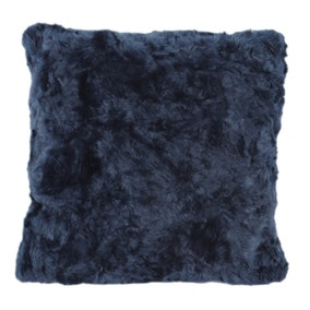 5A Fifth Avenue Emerson Blue Faux Fur Cushion