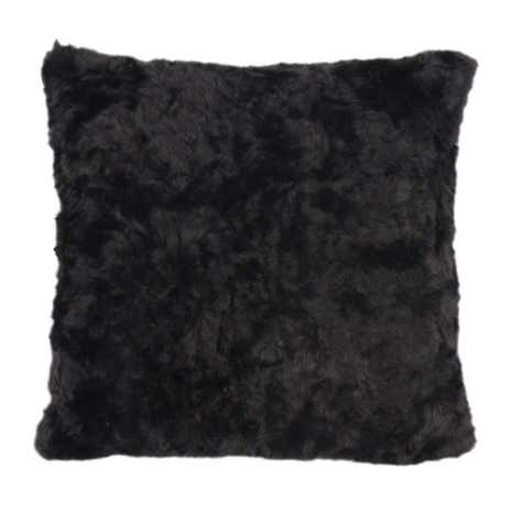 5A Fifth Avenue Emerson Black Faux Fur Cushion