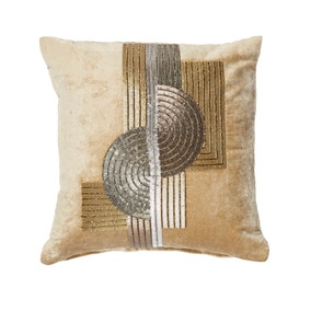 5A Fifth Avenue Gold Grand Central Bead Cushion
