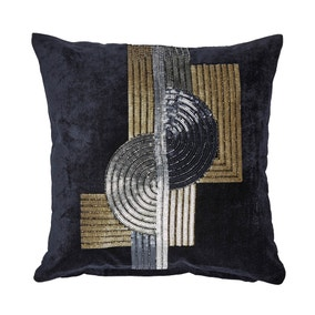 5A Fifth Avenue Navy Grand Central Bead Cushion