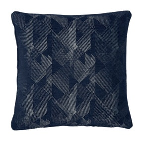 5A Fifth Avenue Large Indigo Harman Geo Cushion
