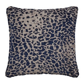 5A Fifth Avenue Navy Leopard Chenille Jacquard Cushion