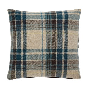 Alban Blue Check Cushion