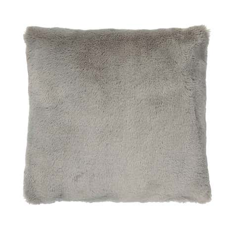Aspen Grey Faux Fur Cushion