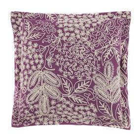 Aubrey Embroidered Purple Cushion