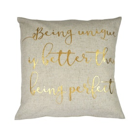 Gold Being Unique Cushion Cover