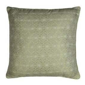 Large Charm Geo Champagne Cushion