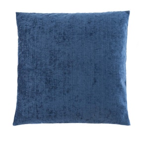 Large Chenille Navy Cushion