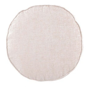 Chenille Round Cream Cushion