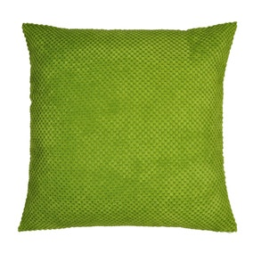 Chenille Spot Green Cushion
