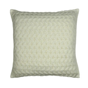 Chunky Knit Ivory Cushion