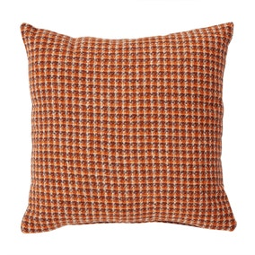 Caelian Mini Check Rust Cushion
