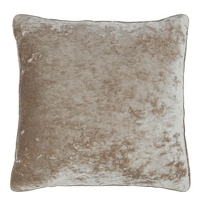 Crushed Velour Champagne Cushion