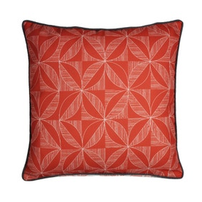 Elements Geo Contrast Coral Cushion Cover