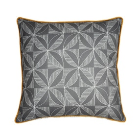 Elements Geo Contrast Grey Cushion Cover