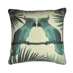 Tropical Birds Cushion Cover