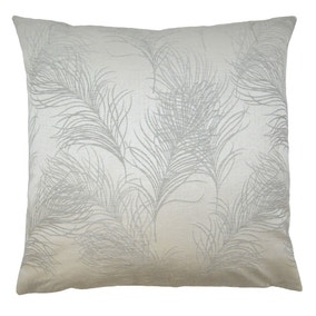 Large Everly Silver Cushion Cover