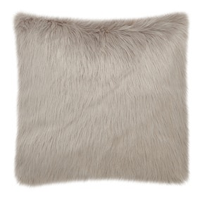 Fluffy Faux Fur Grey Cushion Cover