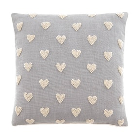 French Knot Hearts Cushion