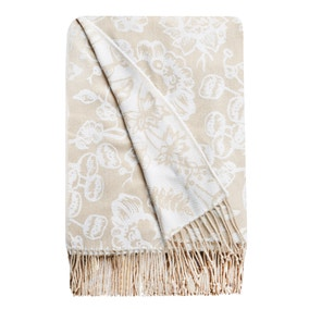 Olivia Natural Floral Throw