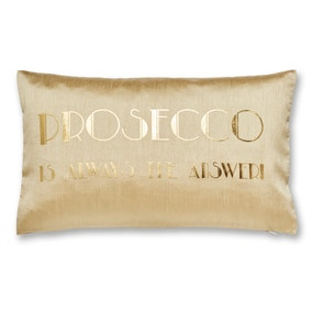 Gold Prosecco Cushion