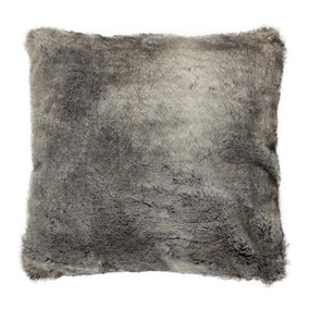 Verbier Grey Faux Fur Cushion