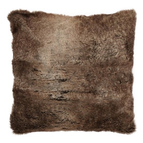 Verbier Natural Faux Fur Cushion