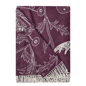 Wiltshire Plum Floral Throw