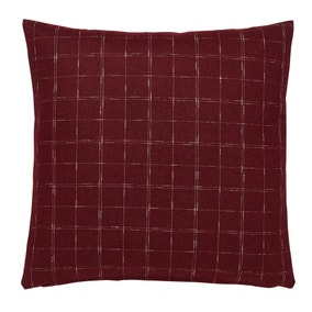 Purple Windowpane Check Cushion